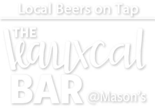 Local Beers on Tap at the Leauxcal Bar at Mason's